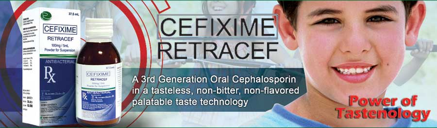 Retracef PFS Cefixime